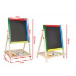 Доска для рисования деревянная магнитная двухсторонняя, с мелками, маркером и стеркой, размер поля для рисования 35x30 см. Арт.24832-1/903TC