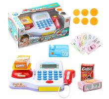 Детский кассовый аппарат со сканером и набором продуктов, звуковые и световые эффекты. Арт. LS820A17