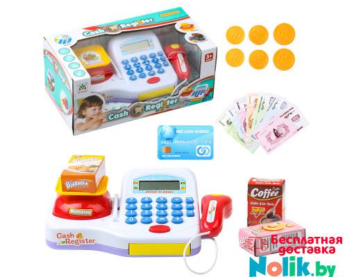 Детский кассовый аппарат со сканером и набором продуктов, звуковые и световые эффекты. Арт. LS820A17 в Минске