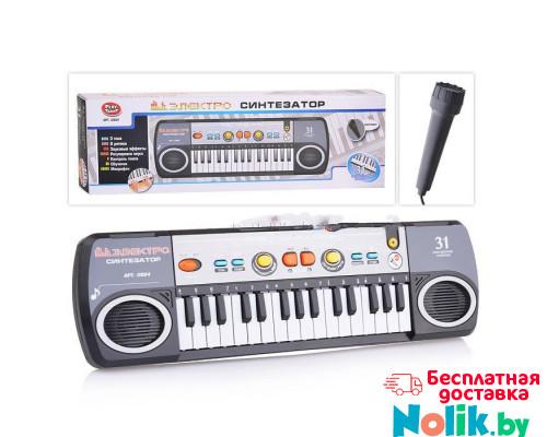 Синтезатор с микрофоном на батарейках, 31 клавиша, размер (44х12х4 см). арт. 0884  в Минске