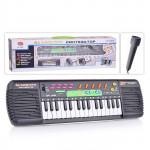 Детский синтезатор с микрофоном и FM радиоприемником на батарейках, 31 клавиша, размер (44х12х5 см). арт. 0885