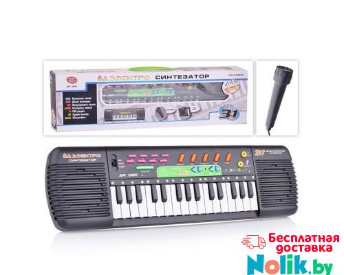 Детский синтезатор с микрофоном и FM радиоприемником на батарейках, 31 клавиша, размер (44х12х5 см). арт. 0885  в Минске
