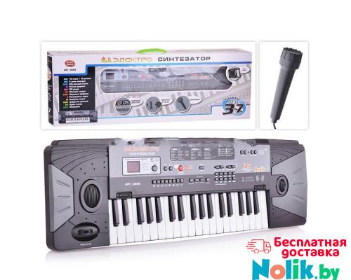 Детский электронный синтезатор пианино с микрофоном +FM радио, от сети и батареек, 37 клавиш, размер 70 x 23 x 8 см арт. 0889 в Минске