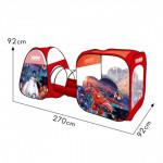 Палатка детская игровая с тоннелем Город героев, 270х92х92 см, арт. 8015BH