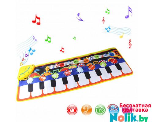 Напольный коврик синтезатор 110*36 см. Музыкальный коврик пианино 2 в 1 (коврик и пианино). Арт. LT3906 в Минске