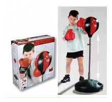 Набор для бокса детский груша напольная и перчатки king sport высота 80-110 см. Арт.143881/1