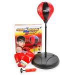 Боксерская груша на стойке с перчатками высота 80 -110 см. Детский чемпионский набор. Арт. 7222B