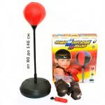 Игровой набор Бокс на стойке с боксерскими перчатками. Большой. Высота от 80 до 146 см. Арт. 7555B