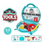 Детский набор инструментов в чемодане, 23 элемента. Арт. 8021A