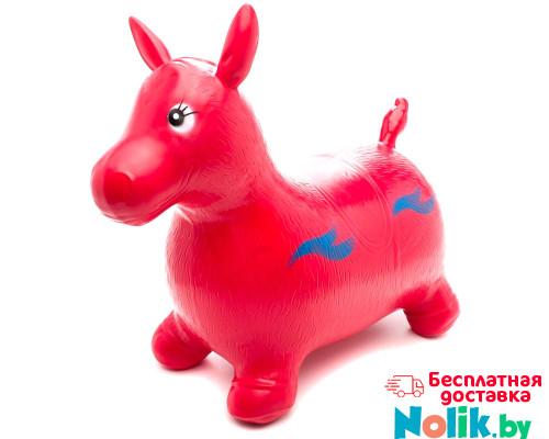 Прыгун надувной резиновый детский ослик (лошадка). Цвет красный. Арт. D27990 в Минске