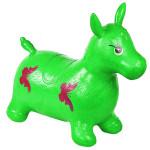 Попрыгунчик резиновый детский ослик надувной (лошадка). Цвет зеленый. Арт. D27990