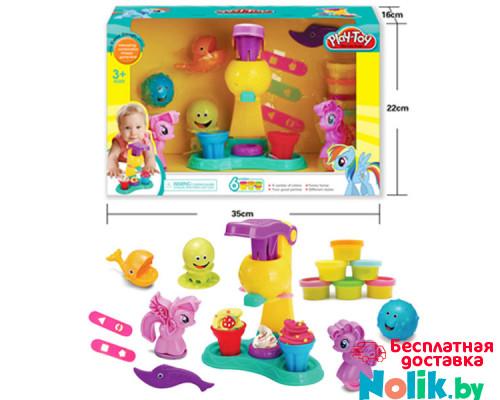 Набор для творчества кондитерская мороженного «Little Pony», 6 цветов. Тесто для лепки. Арт. SM8015  в Минске