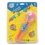 Музыкальная игрушка микрофон Joy Toy 7043 6 мелодий и песня Алфавит. Цвет оранжевый арт. 7043.
