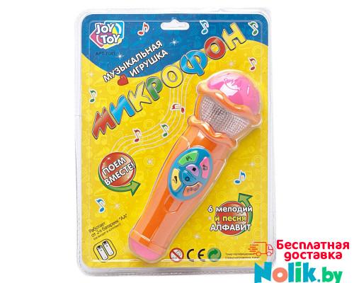 Музыкальная игрушка микрофон Joy Toy 7043 6 мелодий и песня Алфавит. Цвет оранжевый арт. 7043. в Минске