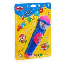 Микрофон музыкальный  Joy Toy 7043 6 мелодий и песня Алфавит. Цвет синий. Арт. 7043.