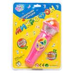 Детский микрофон музыкальный  Joy Toy 7043 6 мелодий и песня Алфавит. Цвет розовый. Арт. 7043.