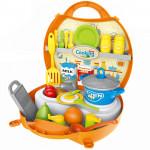 Игровой набор Кухня Шефа в чемоданчике с аксессуарами 33 предмета. Арт. 8738B