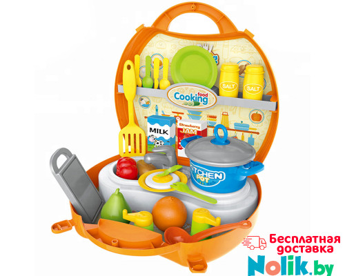 Игровой набор Кухня Шефа в чемоданчике с аксессуарами 33 предмета. Арт. 8738B в Минске