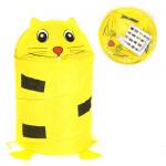 Корзина для игрушек детская Котенок. Цвет желтый. Арт. D27921