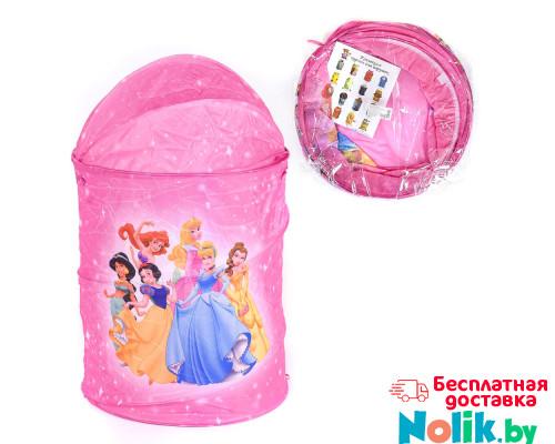 Корзина для игрушек круглая Disney Принцессы. Цвет розовый. Арт. D27922 в Минске