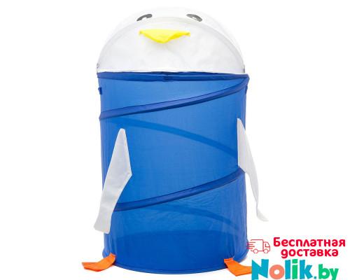 Корзина для хранения игрушек (ящик для игрушек) Пингвин. Цвет синий. Арт. D27921 в Минске