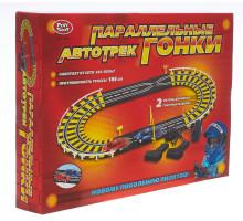"""Автотрек, трек детский 0808 """"Параллельные гонки"""", длина 186 см, работает от сети. Арт. 0808"""