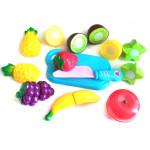 Набор продуктов для резки на липучке + разделочная доска и ножик. Арт. 188-3