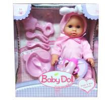 Интерактивный пупс Baby Doll с аксессуарами (писает, пьет). Цвет в розовом. Арт. YL1707C