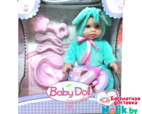 Кукла пупс Baby Doll с аксессуарами (писает, пьет). Цвет в бирюзовом. Арт. YL1707C в Минске