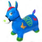 Надувной прыгун резиновый детский ослик (лошадка). Цвет синий. Арт. D27991