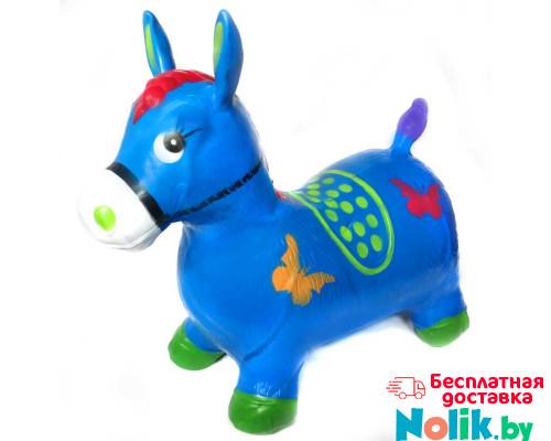 Надувной прыгун резиновый детский ослик (лошадка). Цвет синий. Арт. D27991 в Минске