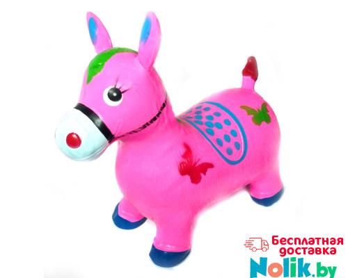 Детский прыгун резиновый надувной ослик (лошадка). Цвет розовый. Арт. D27991 в Минске