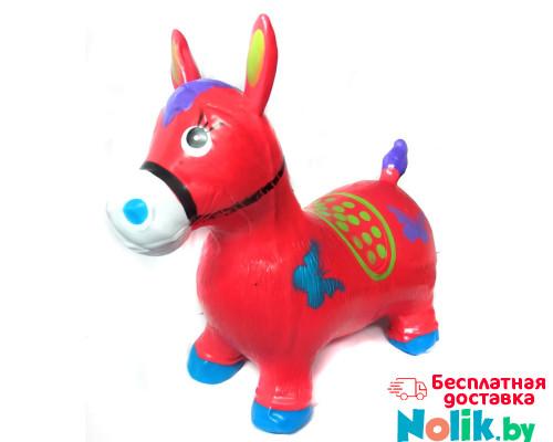Прыгун надувной резиновый ослик (лошадка). Цвет красный. Арт. D27991 в Минске