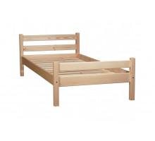 Кровать детская из массива, деревянная кровать с ламелями. Размер 200х90 см. Естественный цвет. Арт. Комфорт-200N