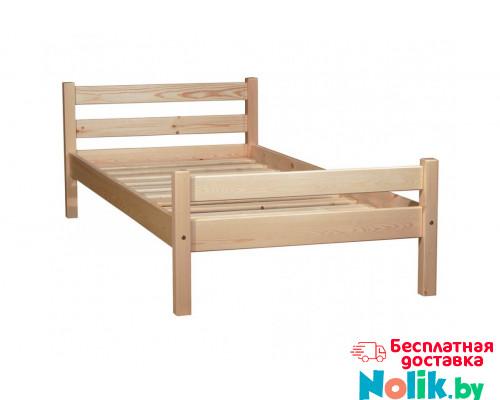 Кровать детская из массива, деревянная кровать с ламелями. Размер 200х90 см. Естественный цвет. Арт. Комфорт-200N в Минске