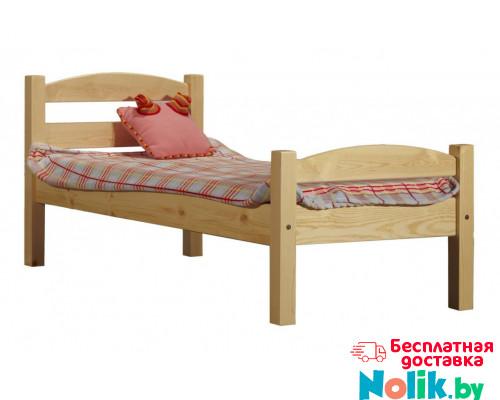 Кровать детская деревянная из массива с ламелями. Размер 200х90 см. Естественный цвет. Арт. Практик-200N в Минске