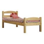 Кровать детская деревянная из массива с ламелями. Размер 200х90 см. Естественный цвет. Арт. Практик-200N