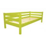 Кровать детская деревянная из массива с ламелями Магия. Цвет зеленое яблоко. Размер 200*90. Арт. Магия-200z