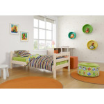 Кровать детская из массива, деревянная кровать с ламелями. Размер 200х90 см. Естественный цвет. Арт. Комфорт-Макси-200N