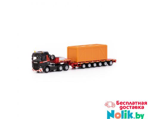 Игрушка машинка-трейлер тягач SCANIA Streamline Highline 6x4 + semi low loader 6 axle MAMMOET TOYS арт. 71-2028. Полесье в Минске