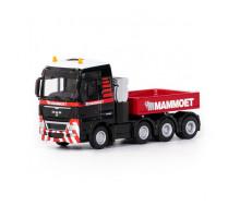 Машинка-трейлер тягач MAN TGX XXL 8x4 + балласт MAMMOET TOYS арт. 71-2027. Полесье