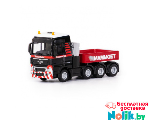 Машинка-трейлер тягач MAN TGX XXL 8x4 + балласт MAMMOET TOYS арт. 71-2027. Полесье в Минске