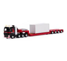 Тягач машинка-трейлер Volvo FH4 Glob XL 8x4 с платформой + контейнер MAMMOET TOYS арт. 71-2026. Полесье