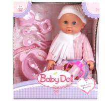 Интерактивная кукла-пупс Baby Doll с набором для кормления (пьет, писает), 24 см, Цвет розовый. Арт. YL1707I
