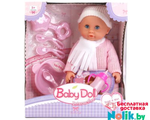 Интерактивная кукла-пупс Baby Doll с набором для кормления (пьет, писает), 24 см, Цвет розовый. Арт. YL1707I в Минске