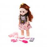"""Кукла """"Вероника"""" (37 см) в салоне красоты с аксессуарами (6 элементов) (в коробке) Моя подружка. Кукла на радиоуправлении, поет песни, знает 7 сказок. Арт. 79602. Полесье"""