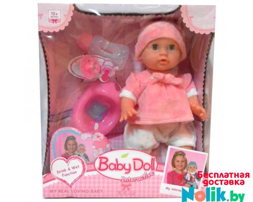 Интерактивный пупс Baby Doll с аксессуарами (горшок, бутылочка, соска). 33 см. Цвет в розовом. Арт. YL1704H в Минске