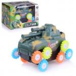 Детская игрушка танк перевертыш, работает от батареек. Арт. 3303