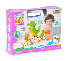 Конcтруктор с шуруповертом Creative Portable Box на батарейках 4 в 1, Животные (Creative Mosaic 3D-конструктор), 198 деталей. Арт. 681A