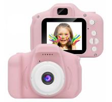 Детский фотоаппарат цифровой Photo Camera Kids (как настоящий). Цвет Розовый. Арт. KVR-001